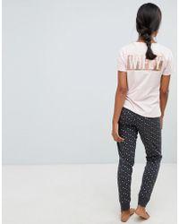 Lyst - New Look Tartan Check Pyjama Nightshirt in Red f1f1a7ca6