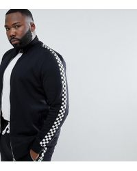 Criminal Damage - Track Top With Checkerboard Stripe Exclusive To Asos - Lyst