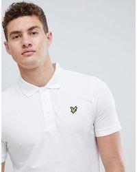 Lyle & Scott - Logo Pique Polo In White - Lyst