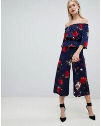 Lipsy - Wide Leg Floral Culottes - Lyst
