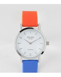 Reclaimed (vintage) - Inspired Silicone Watch In Blue/red 36mm Exclusive To Asos - Lyst