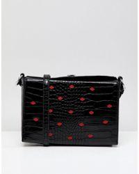 Liquorish - Lip Embellished Crossbody Bag - Lyst