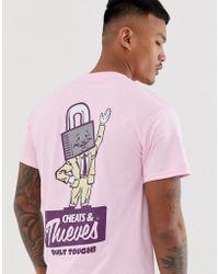 Cheats & Thieves - Lock Back Print T-shirt - Lyst
