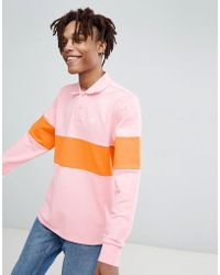 Converse - X Golf Le Fleur Rugby Shirt In Pink 10008830-a01 - Lyst