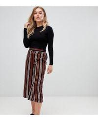 New Look - Stripe Wide Leg Crop Pant - Lyst