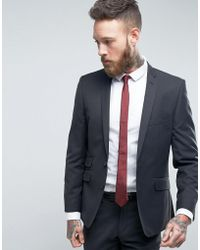 Ben Sherman - Slim Fit Suit Jacket In Charcoal Small Weave - Lyst