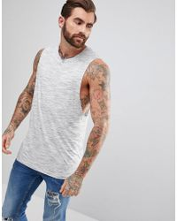 ASOS - Sleeveless T-shirt With Dropped Armhole In Inject Fabric - Lyst