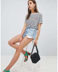 New Look - Distressed Denim Shorts - Lyst