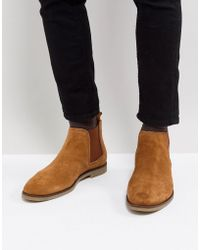 Dune - Chelsea Boots In Tan Suede - Lyst
