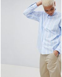 Carhartt WIP - Stripe Shirt With Embroidered Logo - Lyst