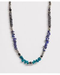 ASOS Beaded Necklace With Semi Precious Stone Detail