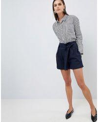 Y.A.S - Paperbag Waist Linen Short - Lyst