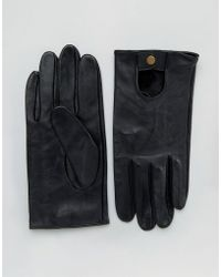 ASOS - Leather Driving Gloves In Black - Lyst