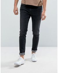 Casual Friday - Skinny Jeans In Washed Black - Lyst