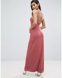 ASOS | Maxi Dress With Strappy Back Detail | Lyst