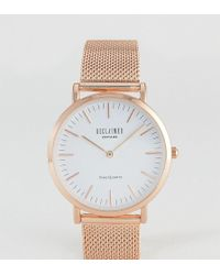 Reclaimed (vintage) - Inspired Mesh Watch In Rose Gold 36mm Exclusive To Asos - Lyst