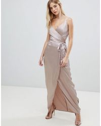 Girl In Mind - V Neck Wrap Maxi Dress - Lyst