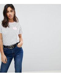 ASOS - Stripe T-shirt With Heartbreaker Badge Detail - Lyst