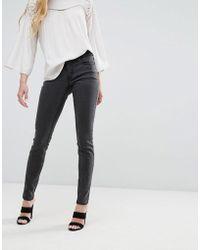Vila - Slim Lux Jeans - Lyst