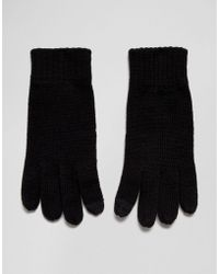 French Connection - Rib Knit Touch Screen Gloves - Lyst
