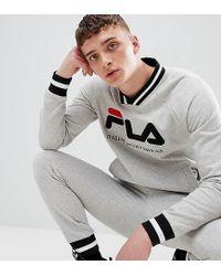 Fila - Retro Track Sweatshirt In Grey - Lyst