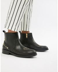 Love Moschino - Flat Ankle Boots - Lyst