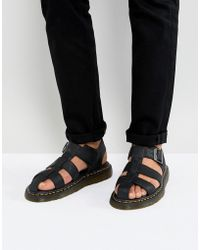 Dr. Martens - Galia Carpathian Sandals In Black - Lyst