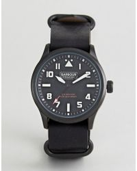 Barbour - Bywell Watch With Black Strap - Lyst