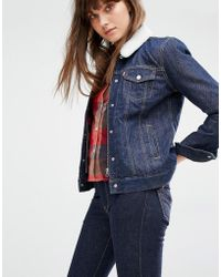 Levi's - Levi's Relaxed Fit Denim Jacket With Borg Collar - Lyst