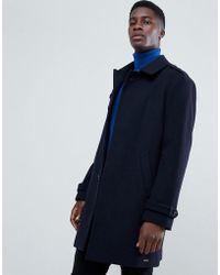 Esprit - Wool Trench Coat In Navy - Lyst