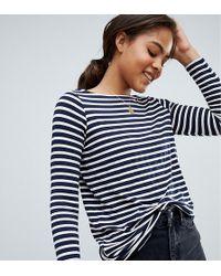 ASOS - Asos Design Tall Stripe Slouchy Long Sleeve T-shirt - Lyst