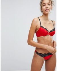 New Look - Scallop Satin Thong - Lyst