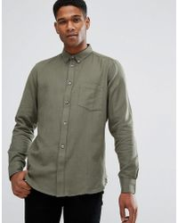 French Connection - Flannel Plain Shirt - Lyst