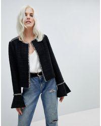 Vero Moda - Jacket With Fluted Sleeve - Lyst