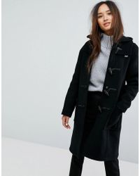 Gloverall - Long Slim Wool Blend Duffle Coat - Lyst