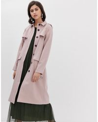 Y.A.S - Premium Belted Trench Coat In Blush - Lyst