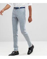 Noak - Tall Skinny Suit Trousers In Harris Tweed - Lyst