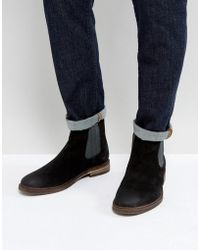Steve Madden - Teller Suede Chelsea Boots In Black - Lyst