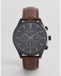 ASOS - Watch With Crocodile Emboss Strap And Contrast Black Case - Lyst