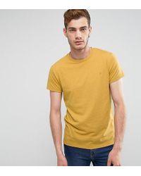 Farah - Gloor Slim Fit Logo Marl T-shirt In Yellow - Lyst