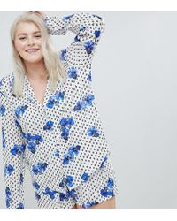 ASOS - Asos Design Curve Pansy Traditional 100% Modal Short Pajama Set - Lyst