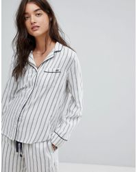 Abercrombie & Fitch - Stripe Pajama Top - Lyst