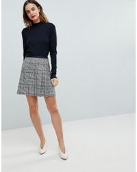 Oasis - Colourful Check Mini Skirt - Lyst