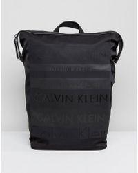 Calvin Klein | Multi Logo Large Backpack | Lyst
