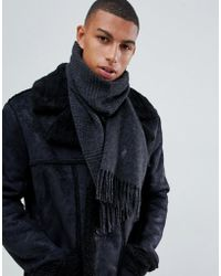 Polo Ralph Lauren - Player Logo Reversible Check Wool Scarf In Black/charcoal - Lyst