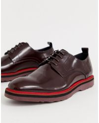 Lambretta - High Shine Lace Up Leather Shoe With Chunky Sole - Lyst