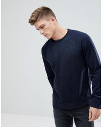 Abercrombie & Fitch - Sports Fleece Crew Neck Sweatshirt In Navy - Lyst