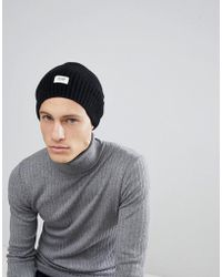 Esprit - Oversized Beanie In Black Wool Blend - Lyst