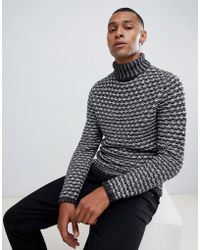 Only & Sons - Chunky Knitted Roll Neck Jumper - Lyst