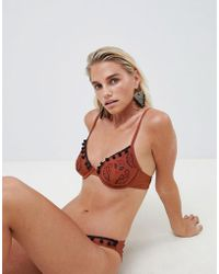 ASOS DESIGN - Boho Paisley Embroidered Underwire Bikini Top - Lyst